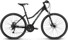 Kross Evado 5.0 Dam Hybridcykel Svart/Turkos, 27 gir, Skivbroms, 14,3 kg