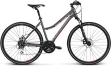 Kross Evado 4.0 Dam Hybridcykel Alu, Shimano 3x8, Skivbroms, 13,8 kg
