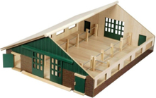 Kids Globe Horse stable wood with 9 horses