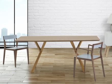 Moderne spisebord - køkken møbler - 180 cm - fyrretræ - Lisala
