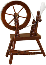 1:12 scale doll house miniature hand reeling machine wooden spinning wheel