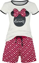 Mickey Mouse - Minnie Polka Dots -Pyjamas - rød, hvit