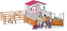 Häststall med Arab-hästar (Schleich)