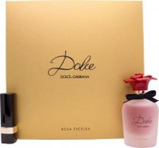 Dolce & Gabbana Dolce Rosa Excelsa Gift Set 50ml EDP + 3.5g Dolce Matte Lipstick - Red