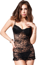 Black Mesh Lace with Underwire Cup