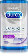 Invisible Extra Lubricated Durex Kondomer 10 St