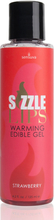 Sensuva - Sizzle Lips Strawberry Warming Edible Gel 125 ml