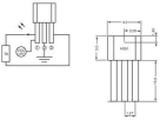 Hallsensor PIC H501 3.8 - 24 V/DC Mätområde: +4 -