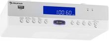 KR-100 WH köksupphängningsradio Bluetooth mikrofon USB MP3 handsfree