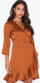 Vero Moda Vmhenna Satin 3/4 Wrap Dress Exp