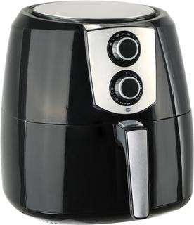 vidaXL airfryer XXL 1800 W 7 l rustfrit stål sort