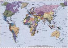 Komar Veggmaleri World Map 270x188 cm 4-050