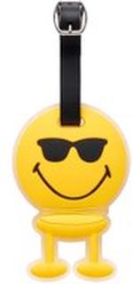 Hoptimist Smiley Bag Tag Cool Bagasjelapp