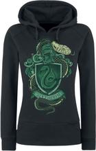Harry Potter - Slytherin -Hettegenser - svart