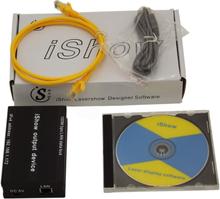 iShow V3.0 Laser Show Software ILDA+RJ45 USB Interface ishow For Disco DJ DMX Bar Stage Laser Light Show similar as QUICKSHOW