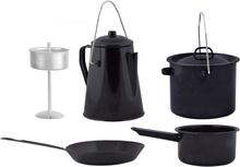 Esschert Design madlavningssæt til udendørsbrug 4 dele sort FF215