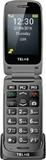 Senior-mobiltelefon vikbar Telme X200 Rymdgrå
