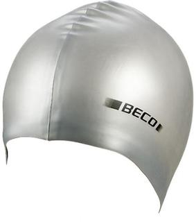 BECO metalliskt silikon simning Cap - Silver