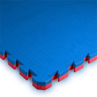 Budo-Nord Puslematte 100 x 100 x 4 cm, blå/rød, Budo-Nord Gulv