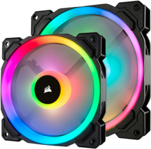 LL140 RGB Dual Light 2-pack + Node PRO - Lådfläkt - 140 mm - 25 dBA