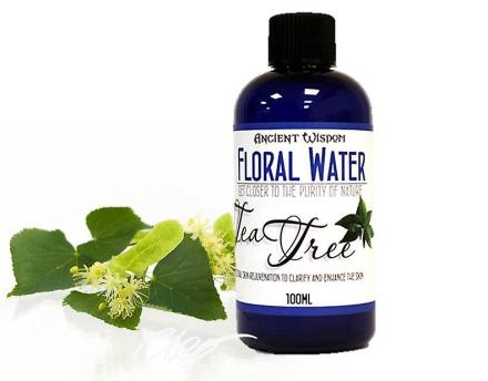 Te træ blomstermotiver vand naturlige hud Toner 100ml