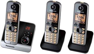 Panasonic KXTG 6723 GB trio trådlös telefon med 2 extra, extra Mobilte
