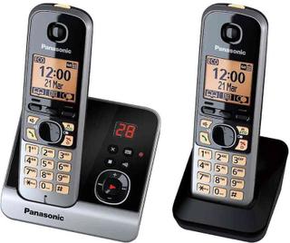 Panasonic KXTG 6722 GB duo trådlös telefon (46 cm (18 tum) skärm