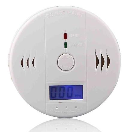 LCD-CO Kulilte detektor forgiftning Gas brand advarsel sikkert Alar...