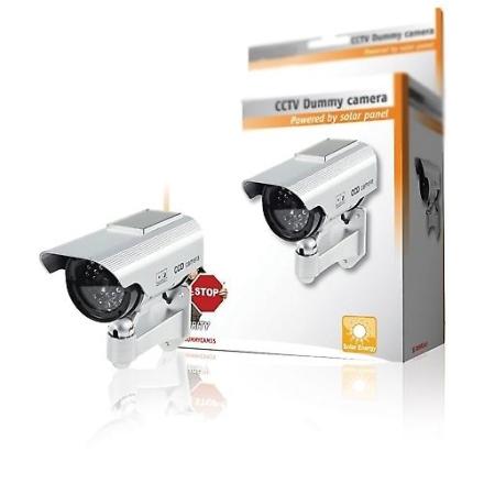Premium Fake/Dummy CCTV sikkerhetskamera Solar drevet med blinkende...