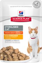Hill's Science Plan katzenhafte junge Erwachsene sterilisierte Katzenfutter fur sterilisierte Katzen Huhn Geschmack 300 g