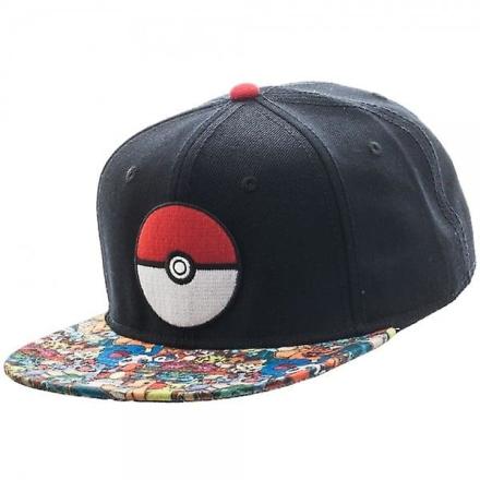 Pokemon Pokemon Pokeball sublimeret Bill Snapback - Fruugo
