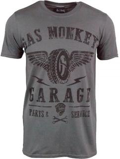Gas Monkey Garage Mens Gas Monkey Garage Garage däck T Shirt Grå