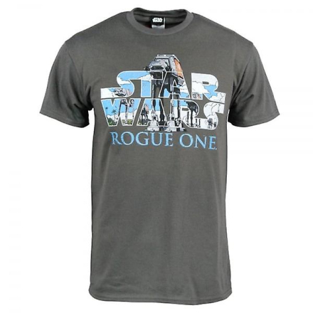 Star Wars Herre Star Wars Rogue en AT-AT Logo T Shirt grå Large - C... - Fruugo