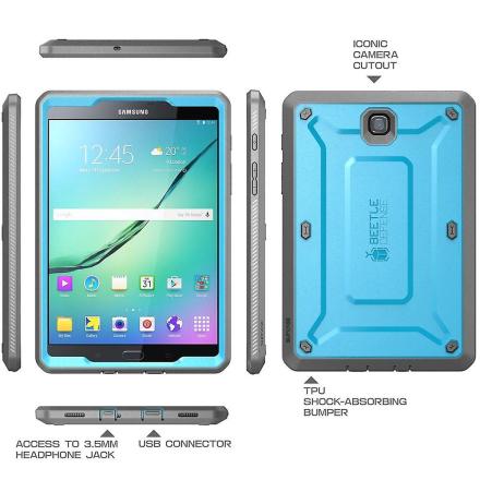 Galaxy Tab S2 9,7, Supcase, Samsung Galaxy Tab S2 9,7, Unicorn Beet...