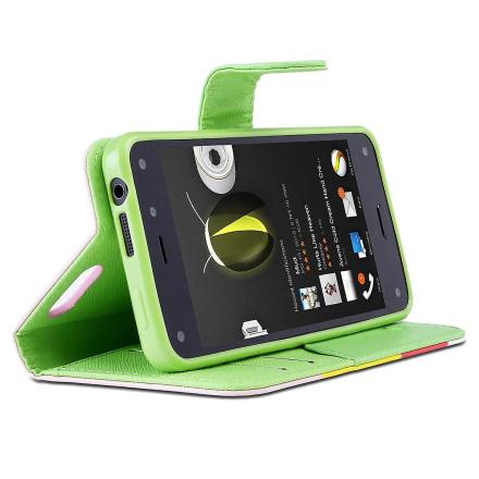 Jeg-Blason Amazon brann telefon Case - slank skinn lommebok bokomsl...