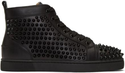 Christian Louboutin Black Louis Spikes Sneakers