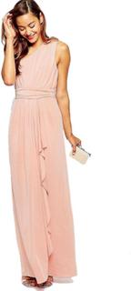 ASOS PETITE bryllup en skulder sexet Slinky Maxi kjole
