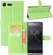 Sony Xperia Xz Premium Litchi Skinn Tekstur PU Lær Flip Etui - Grønn