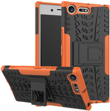 Sony Xperia Xz Premium Anti-Slip TPU Etui - Orange