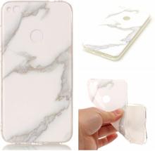 Huawei Honor 8 Lite Marble Imd TPU Myk Etui - Hvit