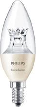 Philips SceneSwitch Kron 3-i-1 LED 5,5W (40W) E14 dimbar - Klar, Warmglow