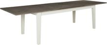Marstrand matbord butterfly 200-290 cm - Ljusgrå / Rökbetsat lackerad ekfanèr