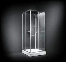 Dansani BASE brusekabine 90 x 90 cm med blank profil og frostet glas