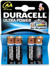 Duracell Ultra Power AA Alkaline Batterier - 4 stk.