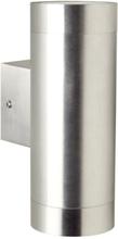 Nordlux Tin Maxi Utendørs dobbel vegglampe, Aluminium