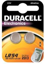Duracell Electronics LR54 Alkaline Batteri - 2 stk.