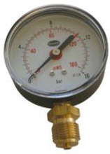 Manometer 80 MM 16 Bar 1/2 M/bar/meter Skala