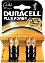 Duracell Plus AAA Alkaline Batterier - 4 stk.