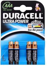 Duracell Ultra Power AAA Alkaline Batterier - 4 stk.