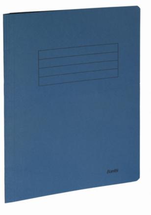 Arbejdsmappe Bantex blå 318x240mm m/skrivefelt